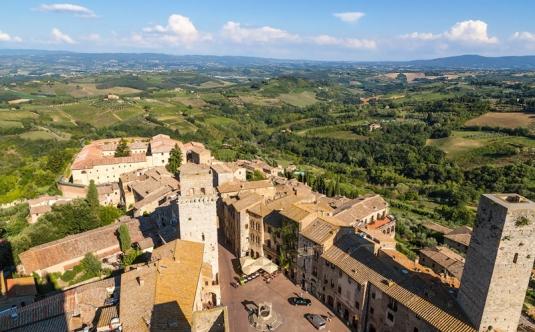 San Gimignano, vista dalla torre